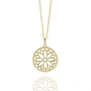 HARMONY AND WELLBEING Purity Mandala Necklace Gold