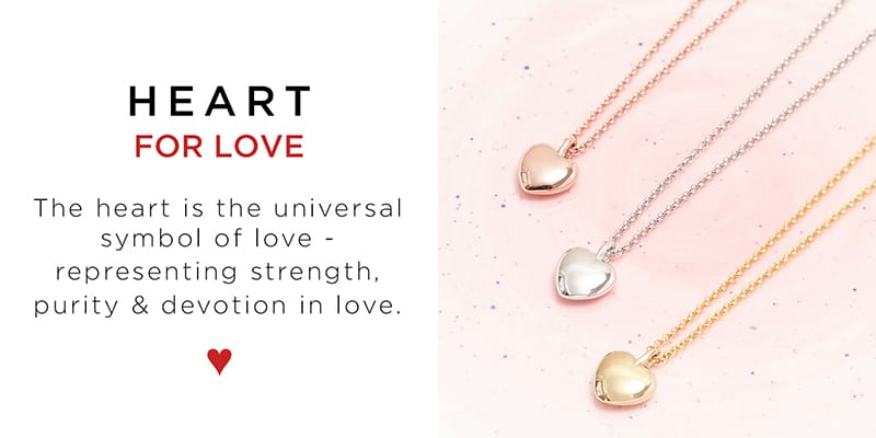 This Pebble Heart Necklace is the universal symbol of love - representing strength, purity and devotion in love. A perfect valentine's gift!