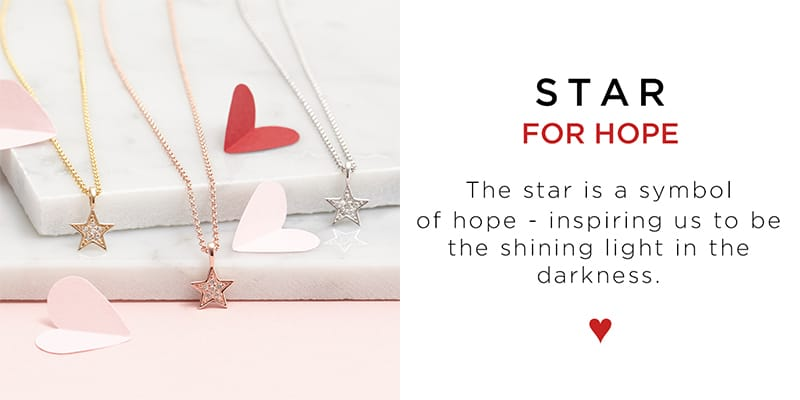 This tiny star necklace inspires us to be the shining light in the dark. Making the perfect jewellery gift for her.