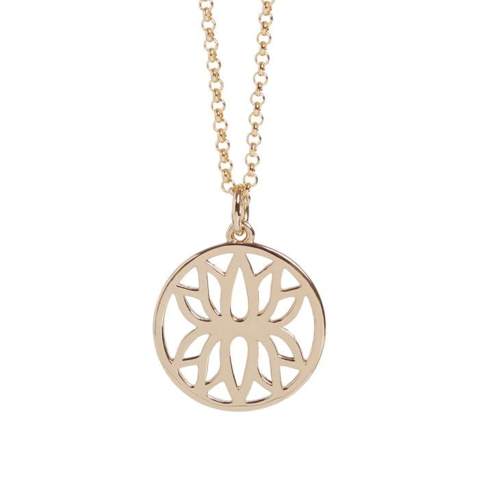 Rose Gold Lotus Flower Necklace, £74