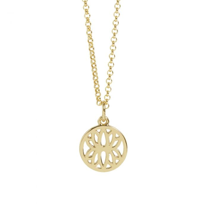 Gold Mini Lotus Flower Necklace, £65