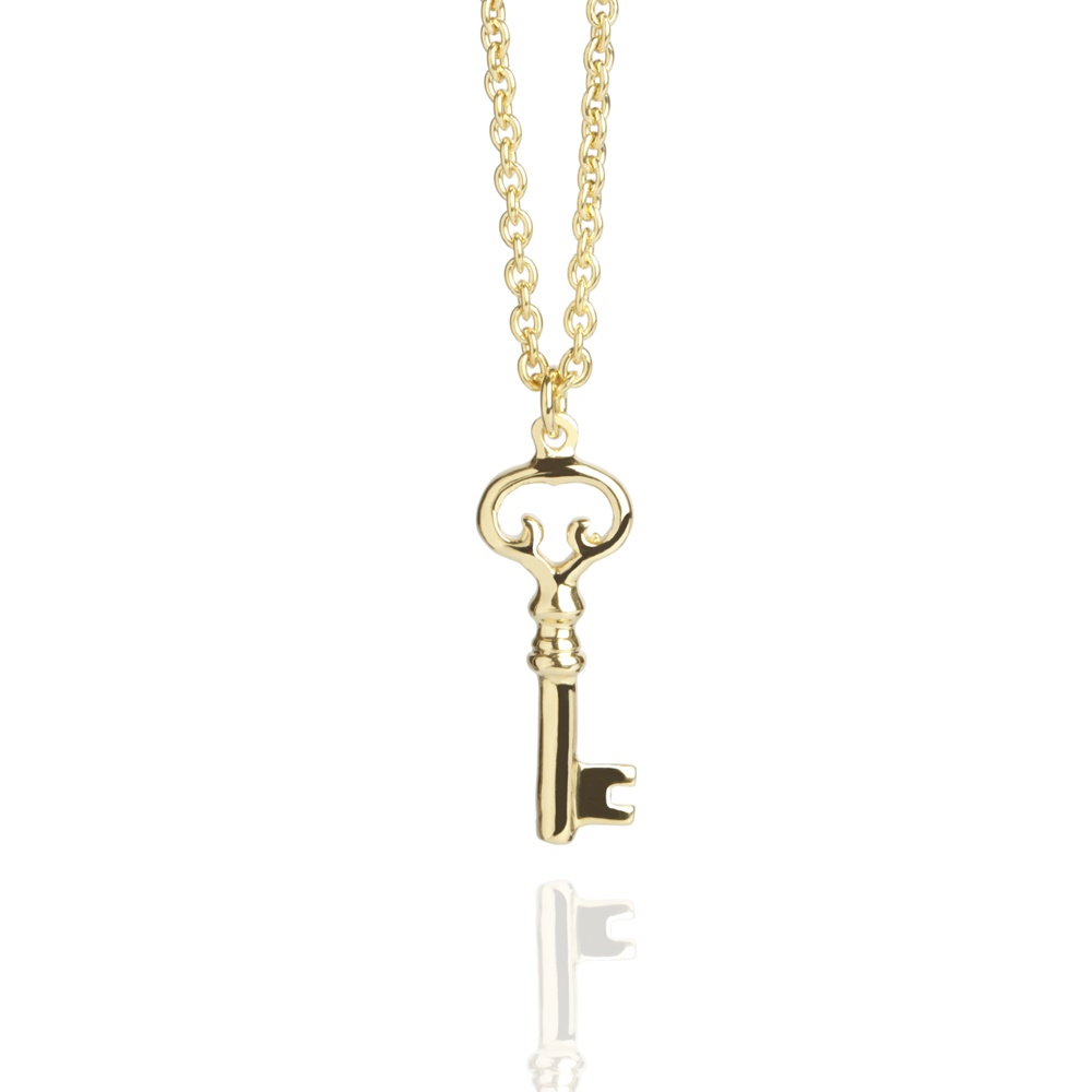 Old Key Necklace Gold | Gold Vermeil Necklaces | Muru Jewellery