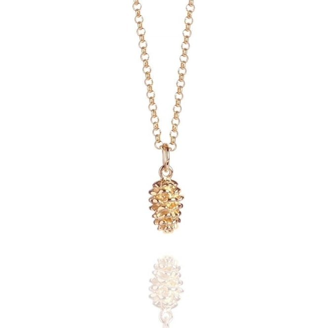 Ambition Pine Cone Necklace Rose Gold