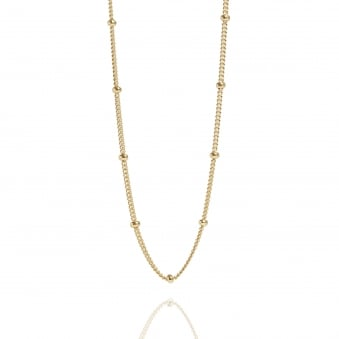 Bead Chain Necklace Gold