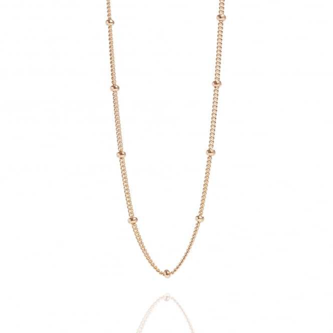 Bead Chain Necklace Rose Gold