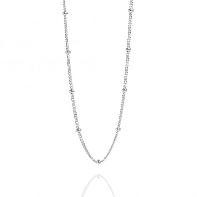 Bead Chain Necklace Sterling Silver