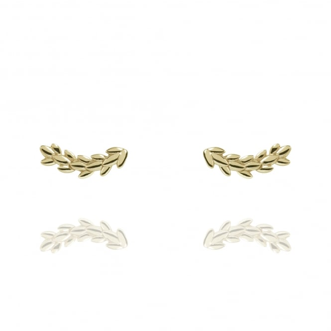 BEAUTY Magnolia Stud Earrings Gold