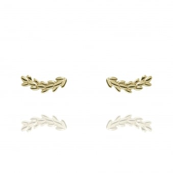 Magnolia Stud Earrings Gold