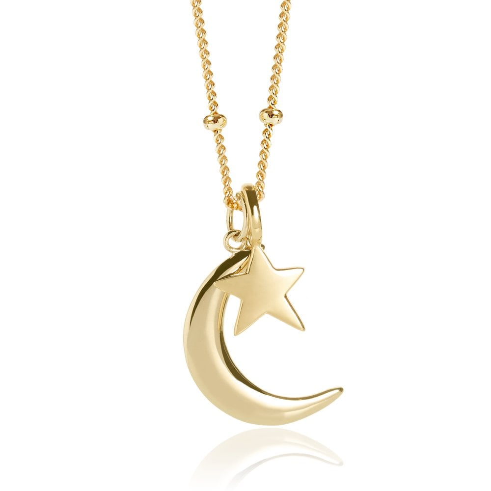 star pendant star necklace moon pendant Moon necklace