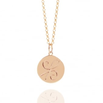 Friendship Coin Necklace Rose Gold