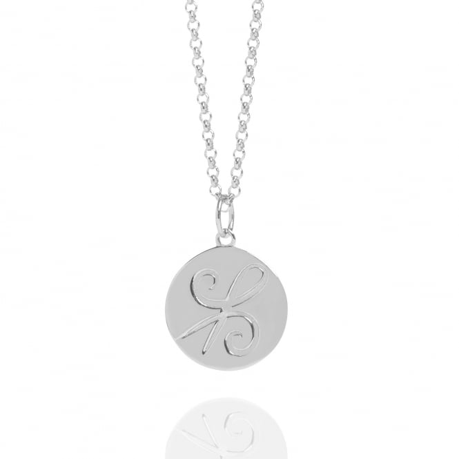 Friendship Coin Necklace Silver