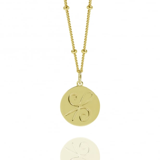 Friendship Gold Coin Necklace With Bead Chain