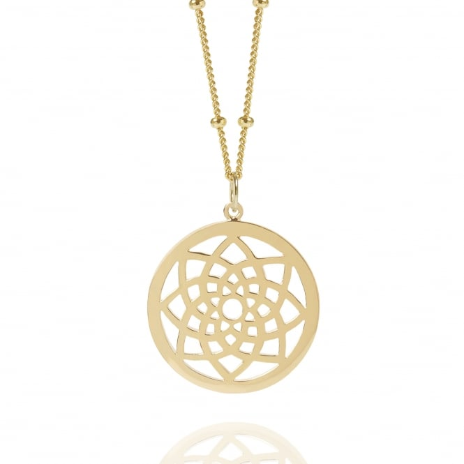 PROSPERITY Gold Dreamcatcher Necklace Bead Chain