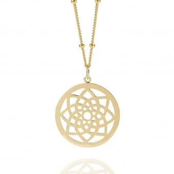 Gold Prosperity Dreamcatcher Necklace Bead Chain