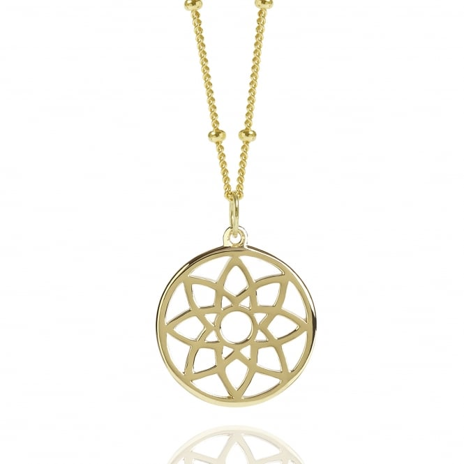 PROSPERITY Gold Dreamcatcher Necklace With Bead Chain