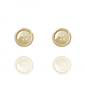 Lucky Button Stud Earrings Gold