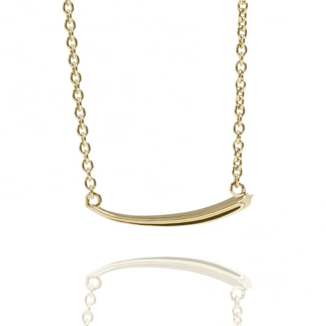 Good Luck Shooting Star Necklace Gold
