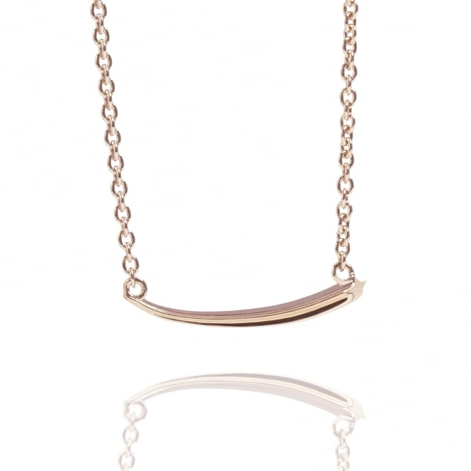 Good Luck Shooting Star Necklace Rose Gold