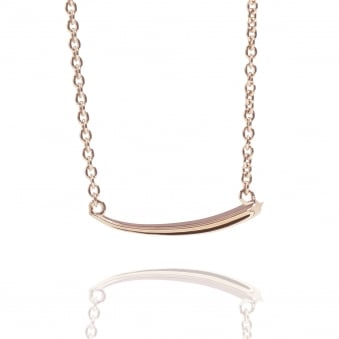 Shooting Star Necklace Rose Gold