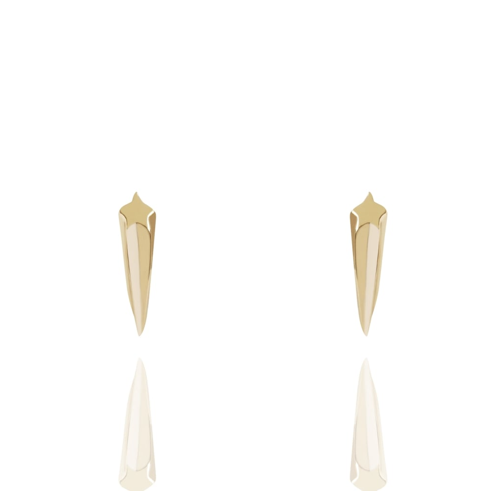 Shooting Star Stud Earrings Gold