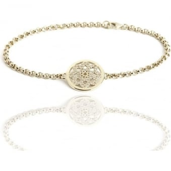 Eternity Mandala Bracelet Gold