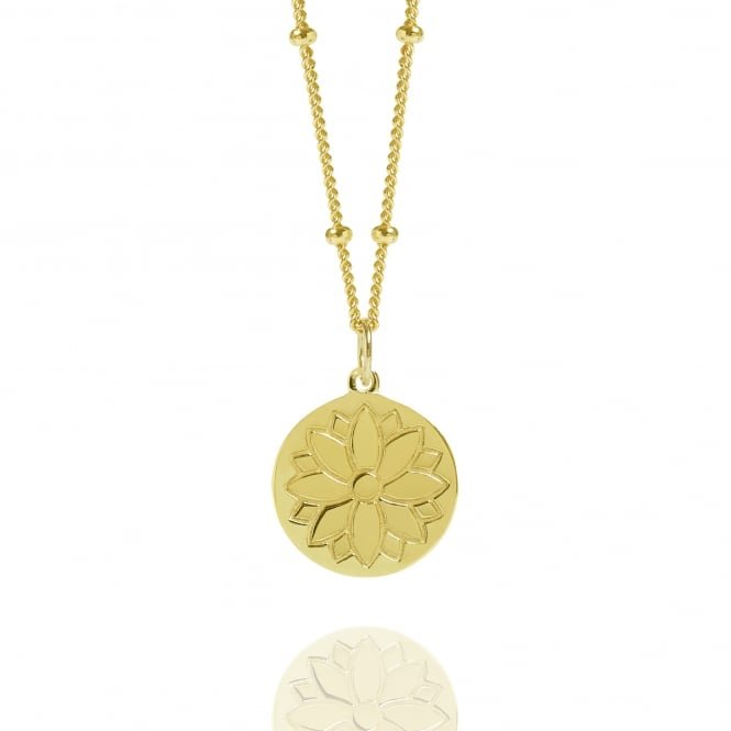 HARMONY & WELLBEING Gold Purity Coin Necklace With Bead Chain