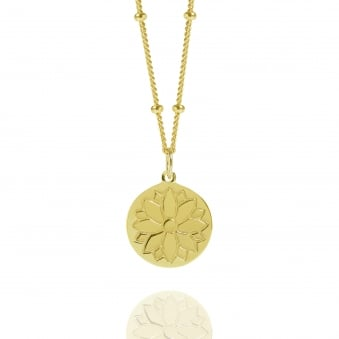 Gold Purity Coin Necklace With Bead Chain