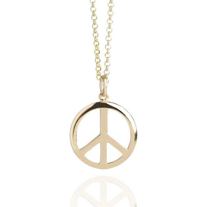 HEALTH & HAPPINESS Peace Sign Necklace Gold