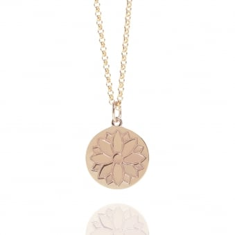 Purity Coin Necklace Rose Gold