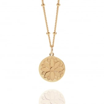 Rose Gold Purity Coin Necklace With Bead Chain