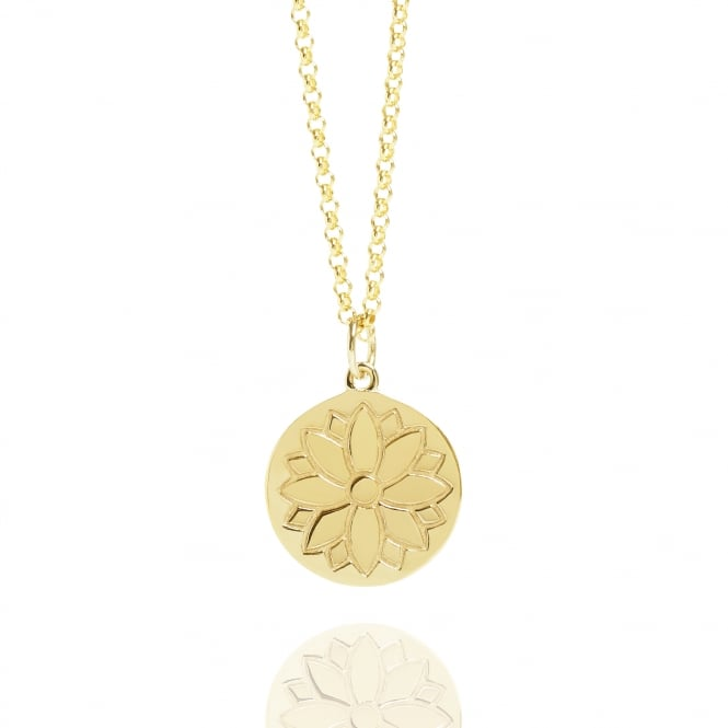 Health & Happiness Purity Coin Necklace Gold