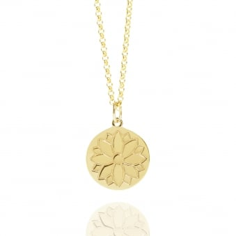 Purity Coin Necklace Gold