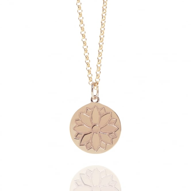 Health & Happiness Purity Coin Necklace Rose Gold