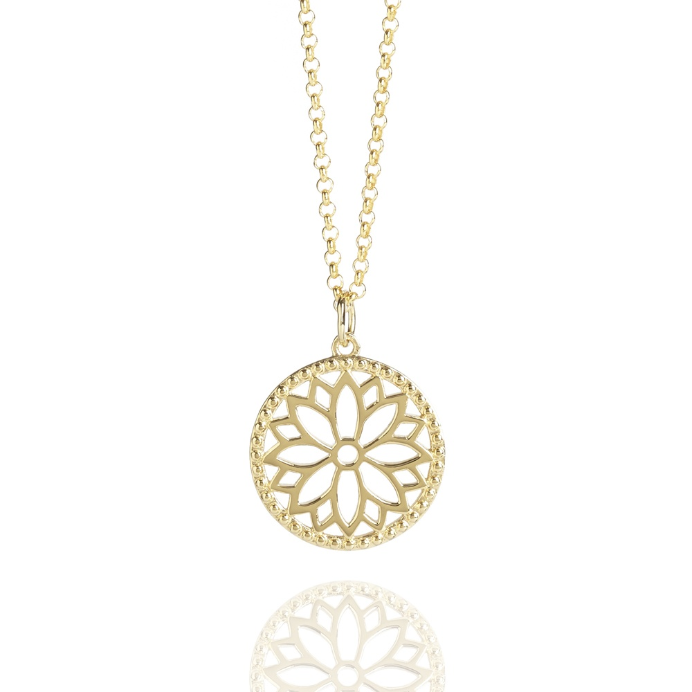 gold satya mandala long b necklace aquaruby pendant jewellery