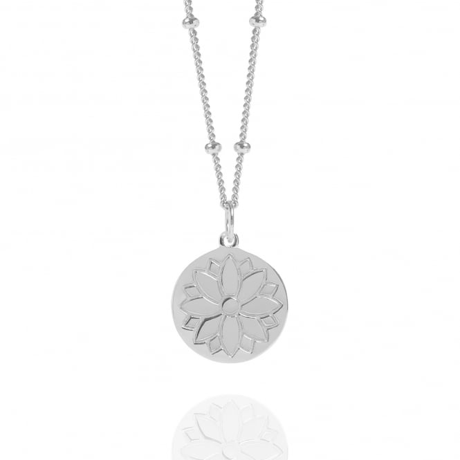 Health & Happiness Silver Purity Coin Necklace With Bead Chain