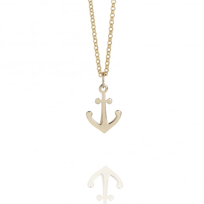 HOPE Mini Anchor Charm Necklace Gold
