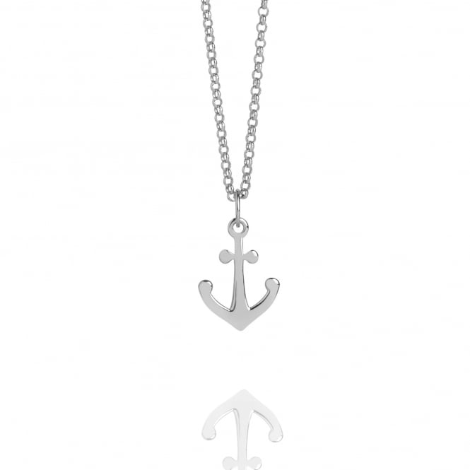 Hope Mini Anchor Charm Necklace Silver
