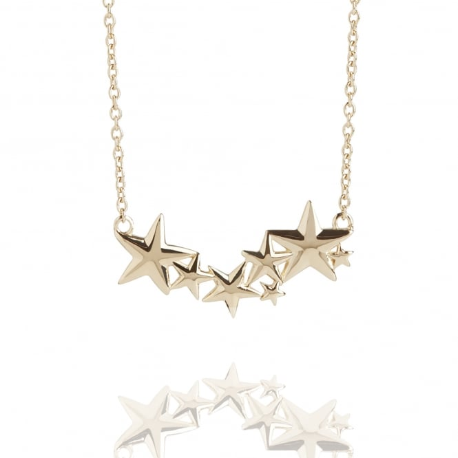 Hope Multi Star Necklace Gold