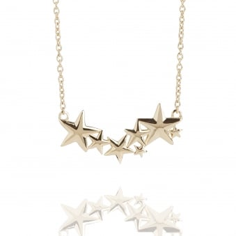 Multi Star Necklace Gold