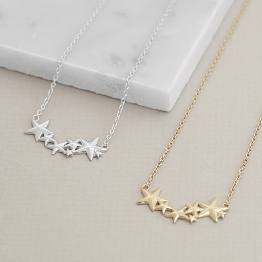 Hope Multi Star Necklace Silver