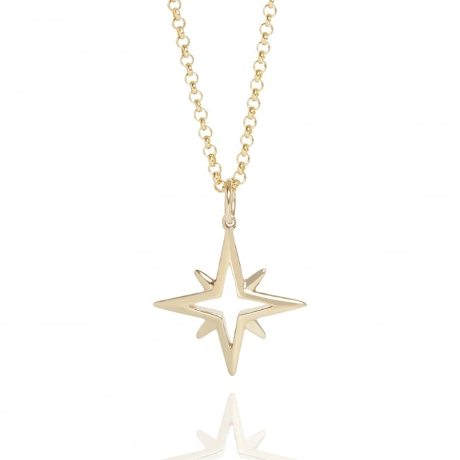 Hope Star Necklace Gold