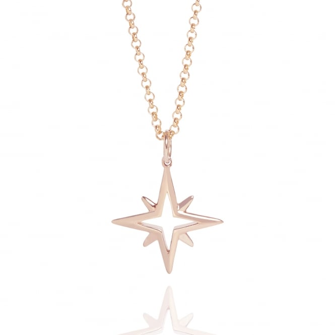 Hope Star Necklace Rose Gold