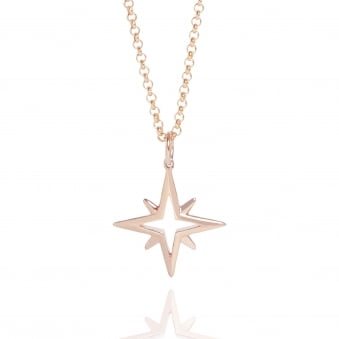 Star Necklace Rose Gold