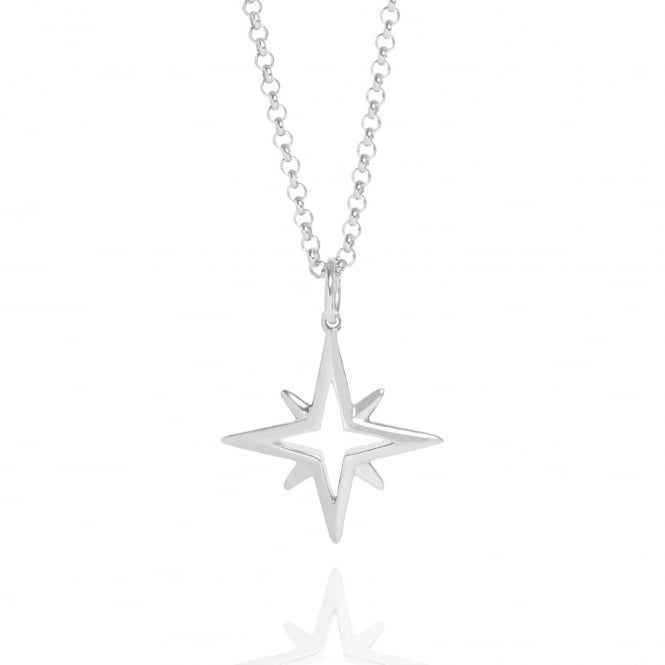Hope Star Necklace Silver