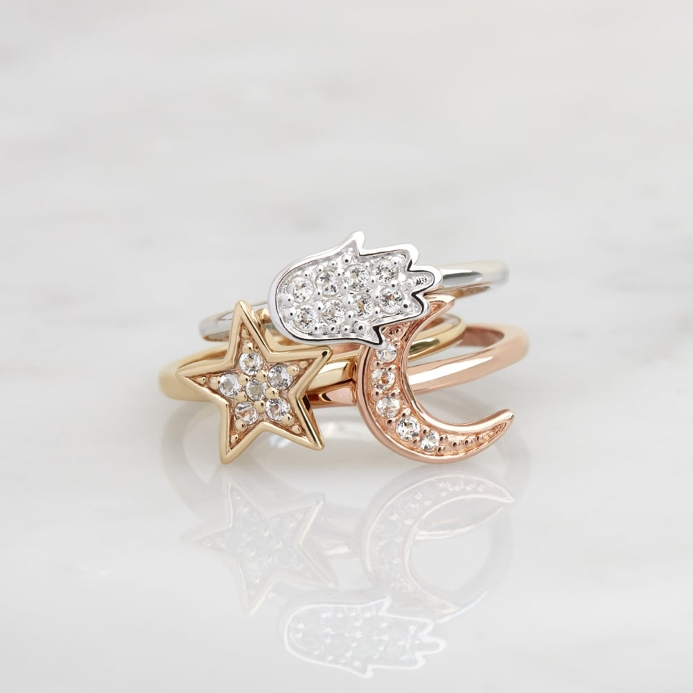 set crown cassy vintage crystal rings women amber ring stone star midi flower for opal knuckle products fashion sets moon