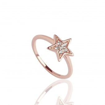 Star Topaz Ring Rose Gold
