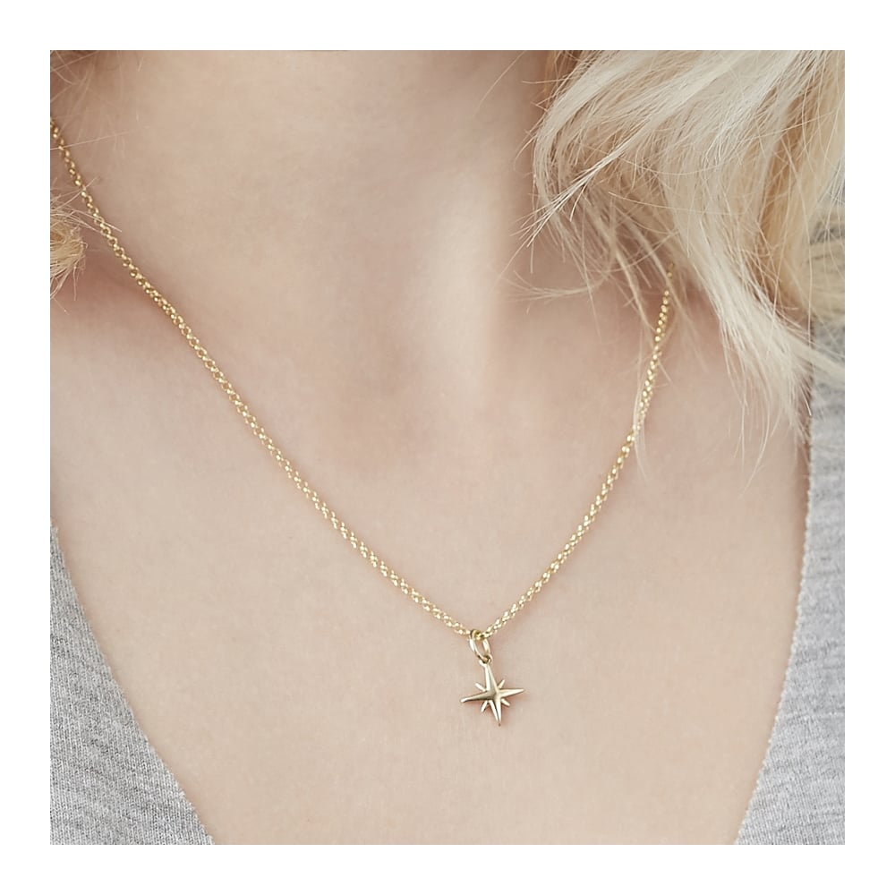 en bijoux tiny star beautiful silver necklace