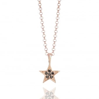 Tiny Star Necklace Rose Gold