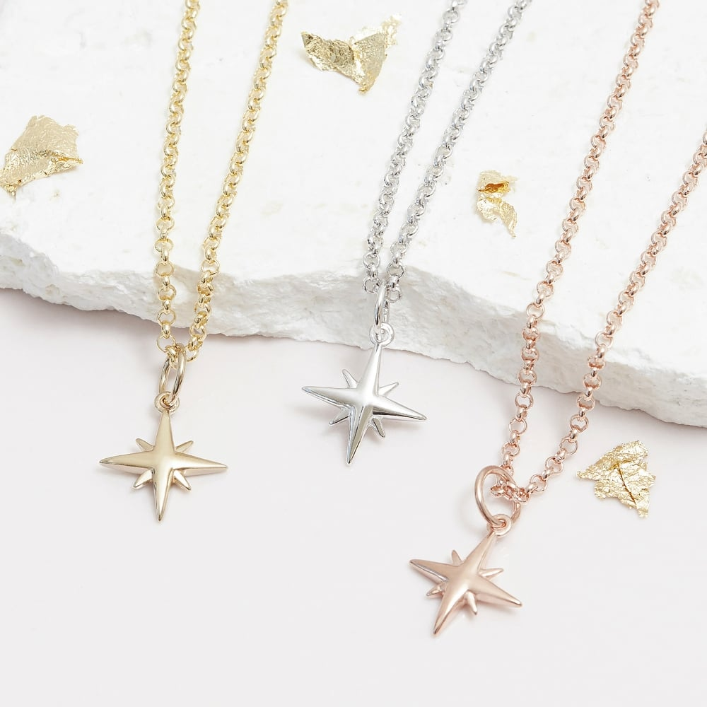 necklace fullxfull il gold outline star minimalist tiny listing chain plated layered