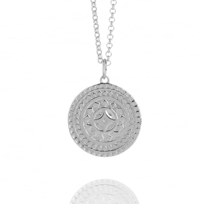 Life & Vitality Ancient Sun Necklace Silver